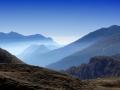 PASSO ROLLE - foschia mattutina sulle valli venete - foto WBIKE
