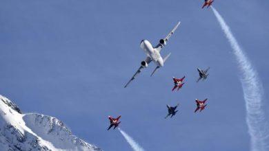 """Photo of Airbus sui cieli delle Alpi """"scortato"""" dalla Patrouille svizzera"""