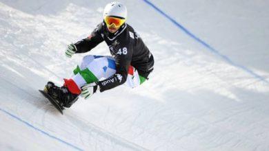 Photo of Luca Matteotti campione del mondo snowboardcross a Kreischberg. Michela Moioli bronzo