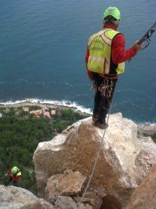 Crollo massi Addaura, sopralluogo soccorso alpino
