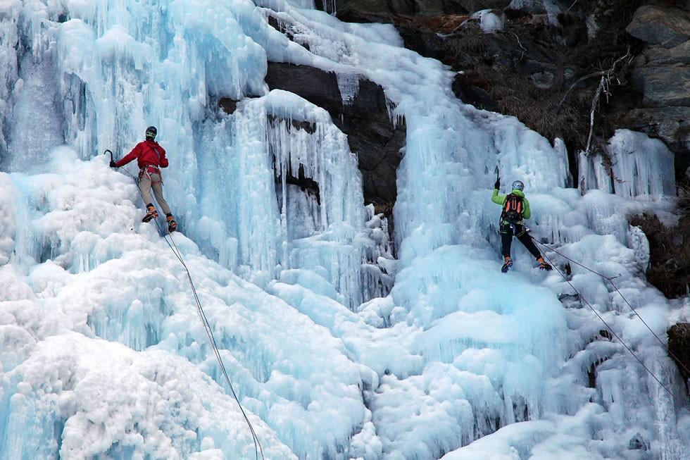 cascata ghiaccio