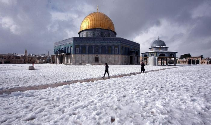 Snowfall in Jerusalem