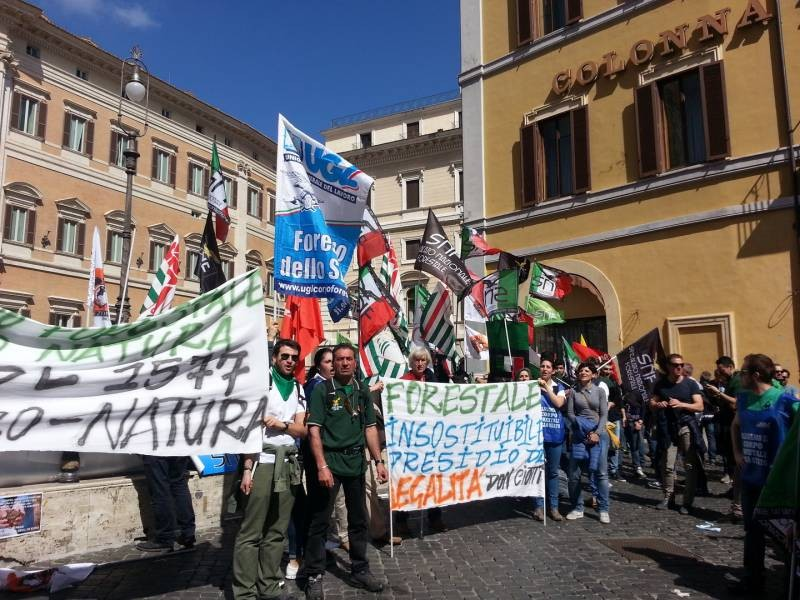 forestali protesta roma