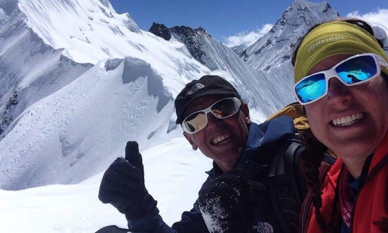 """Photo of Simone Moro: """"Siamo stati i primi della stagione a salire su Island Peak"""""""