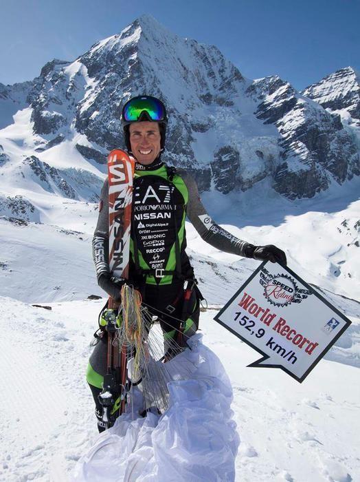 Speedrider altoatesino Armin Senoner stabilisce record mondiale sul
