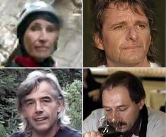 Dall'alto, a sx:  Gigliola Mancinelli, Oskar Piazza, Renzo Benedetti e Marco Pojer
