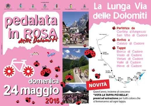 pedalata in rosa dolomiti