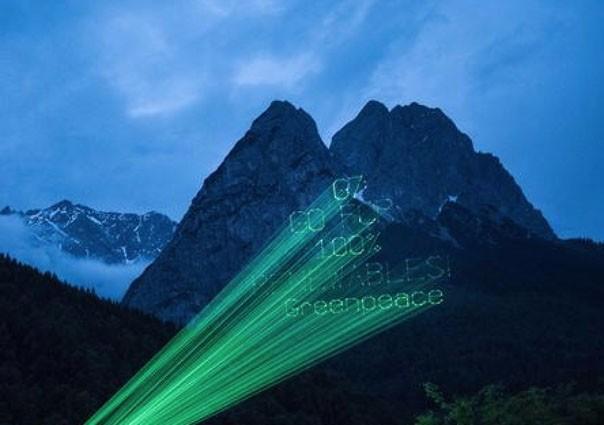 greenpeace messaggio montagna