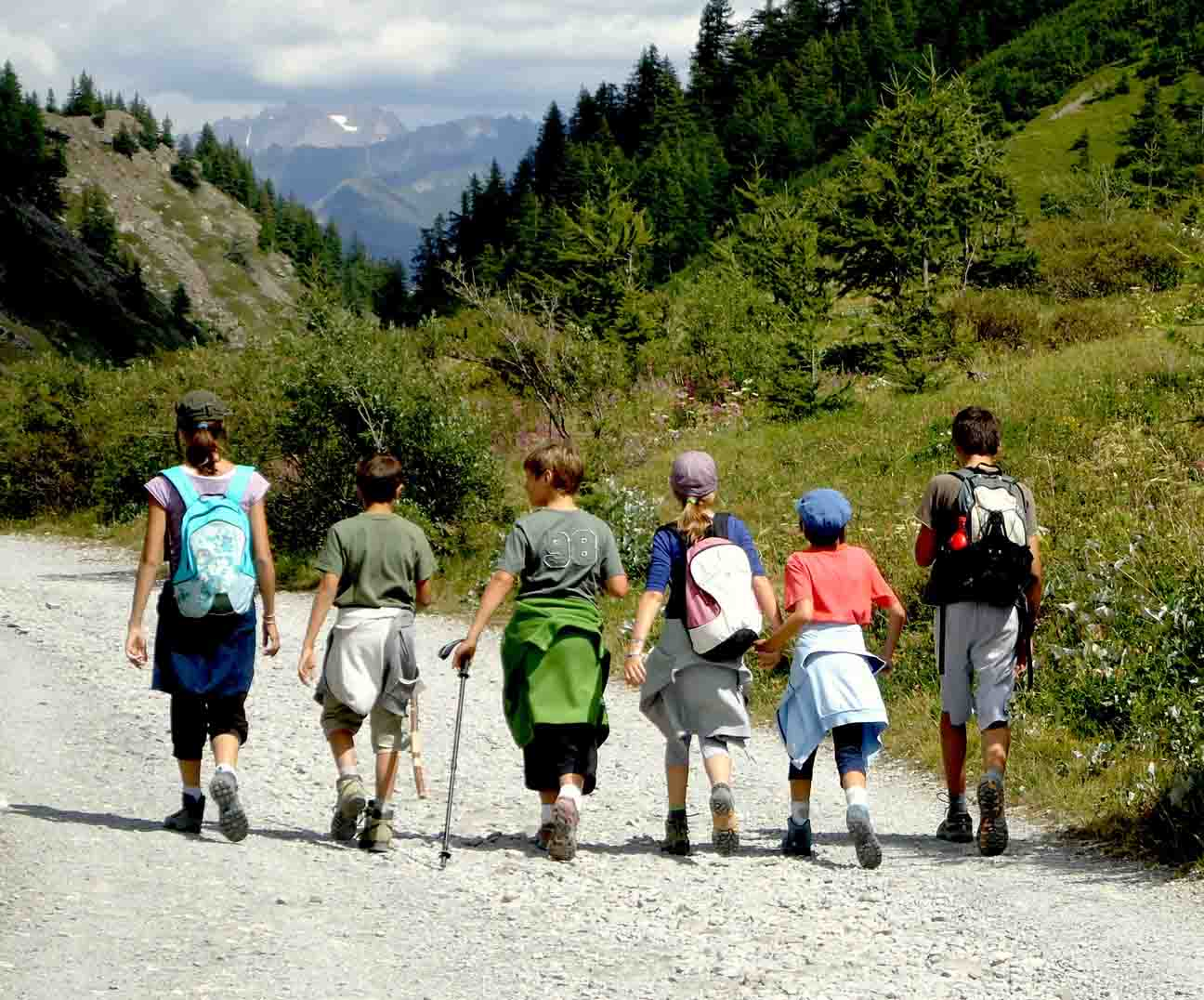 bambini montagna