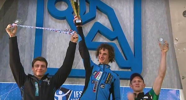 Photo of Adam Ondra Campione del Mondo Lead 2019 a Kranj. Ghisolfi 6°