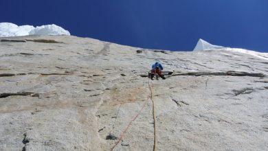 Photo of Matteo Della Bordella sul Cerro Torre dopo il Fitz Roy