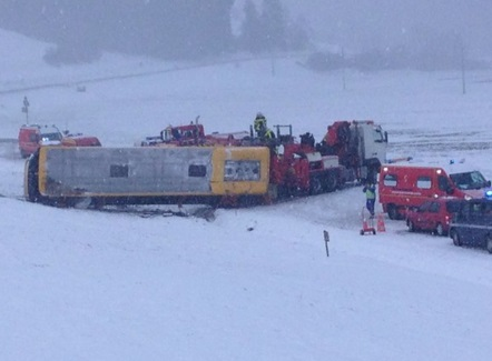 incidente neve doubs francia pullman