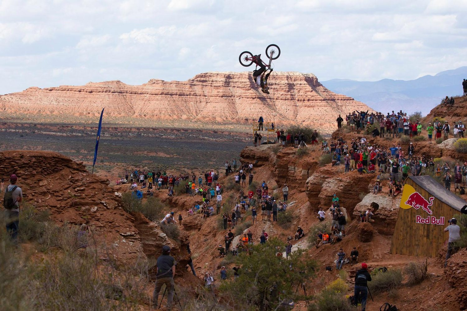 Kelly McGarry rides to a second place finish at Red Bull Rampage in Virgin, UT, USA on 13 October, 2013.