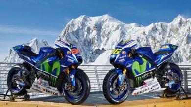 """Photo of Le Yamaha di Rossi e Lorenzo """"scalano"""" il Monte Bianco"""