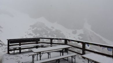 Photo of Torna la neve sul massiccio del Gran Sasso