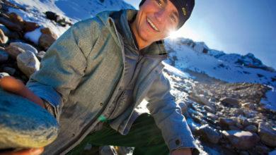 Photo of Simon Gietl verso l'inviolata parete nord Devils Paw in Alaska