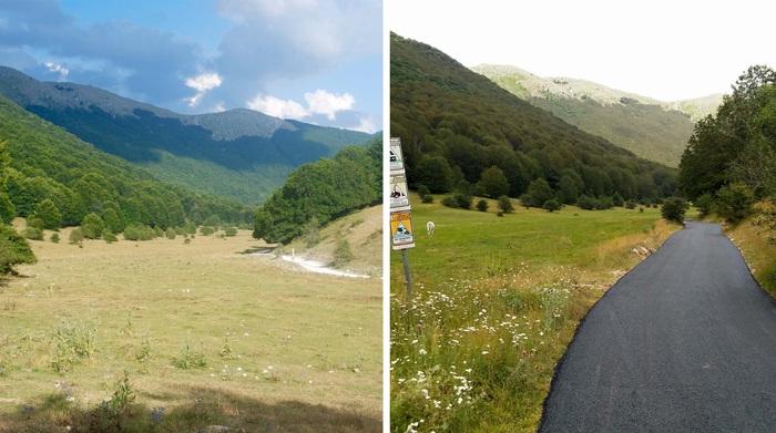 Sentiero asfaltato in Parco d'Abruzzo, ira ambientalisti