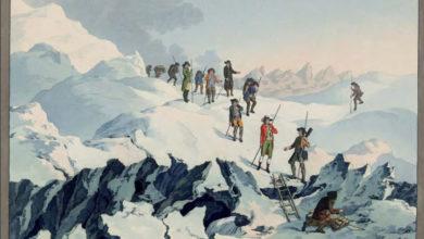 Photo of Paccard e Balmat sulla vetta del Monte Bianco