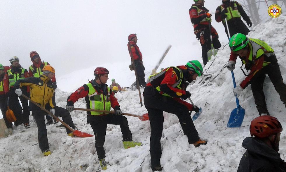 (ANSA/Corpo Nazionale Soccorso Alpino e Speleologico)