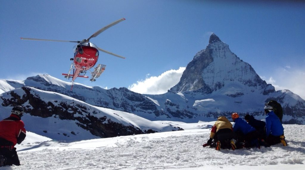 Soccorso in montagna (foto Luigi Festi)