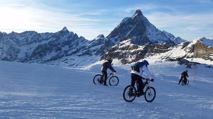 Primo raduno Snow bike del Cervino (Aosta). 25 febbraio 2017