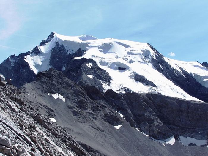 Il Mt Ortles (3905 m) in Alto Adige dal quale sono state estratte nel 2011 le carote di ghiaccio (Foto Paolo Gabrielli)