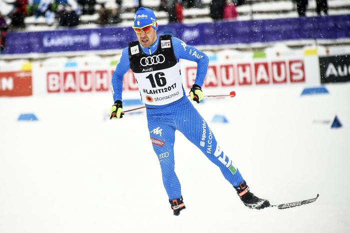 epa05810594 Federico Pellegrino of Italy in action during the men's Cross Country Sprint Qualification round at the FIS Nordic Ski World Championships in Lahti, Finland, 23 February 2017.  EPA/MARKKU OJALA