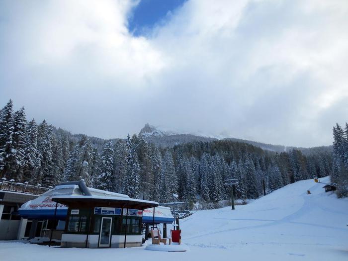 La prima neve a Obereggen.