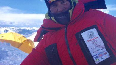 Photo of Marco Confortola pronto per il Gasherbrum II