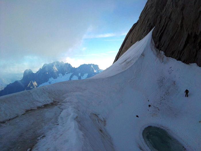 Monte Bianco, precipitano 4 preti slovacchi (Aosta) Foto credit: Soccorso alpino valdostano