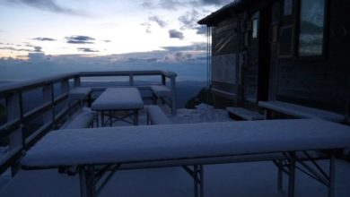 "Photo of Prima neve sul Gran Sasso: ""Evitate i Due Corni"""