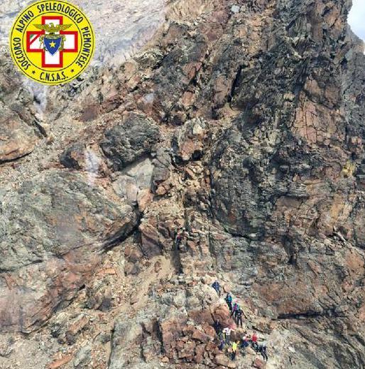 Alpinista deceduto sul Monviso