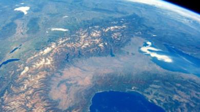 Photo of Le Alpi nella foto scattata dallo spazio da Paolo Nespoli