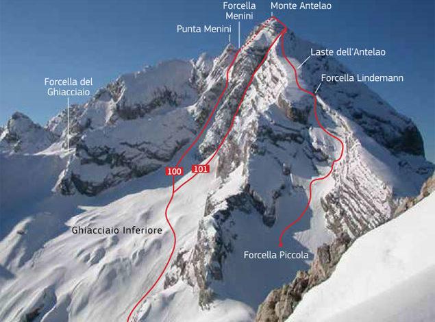 Photo of Alpi di Ghiaccio: Monte Antelao per il Canale Oppel