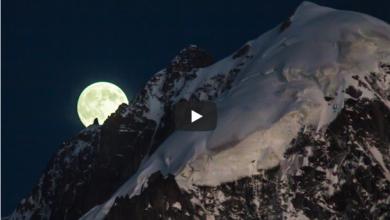 Photo of La scalata della luna sull'Aiguille Verte