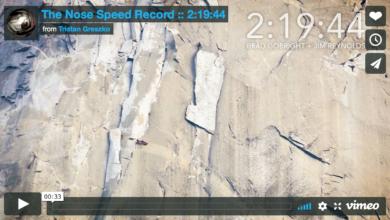 Photo of Video: record velocità Brad Gobright e Jim Reynolds su The Nose