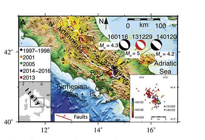 Scoperto magma sotto l'Appennino che potrebbe causare forti terremoti