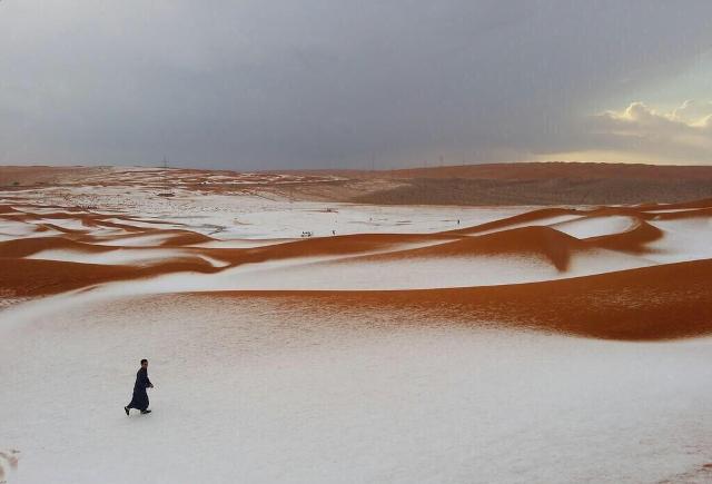neve sahara deserto