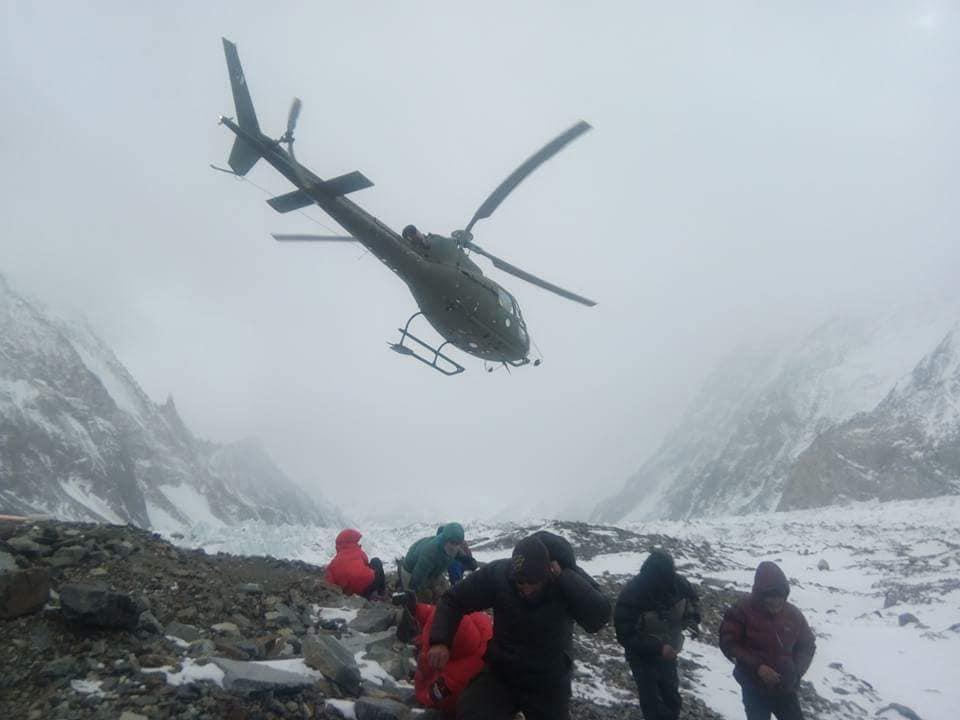 soccorso k2 elicottero