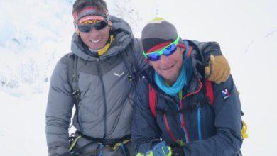 Photo of Camandona e Cazzanelli in vetta al Lhotse