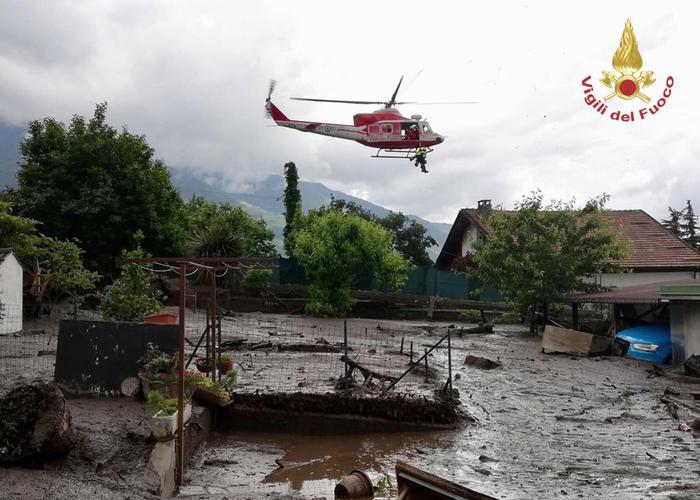 Maltempo: frana a Bussoleno, case travolte in Valle di Susa