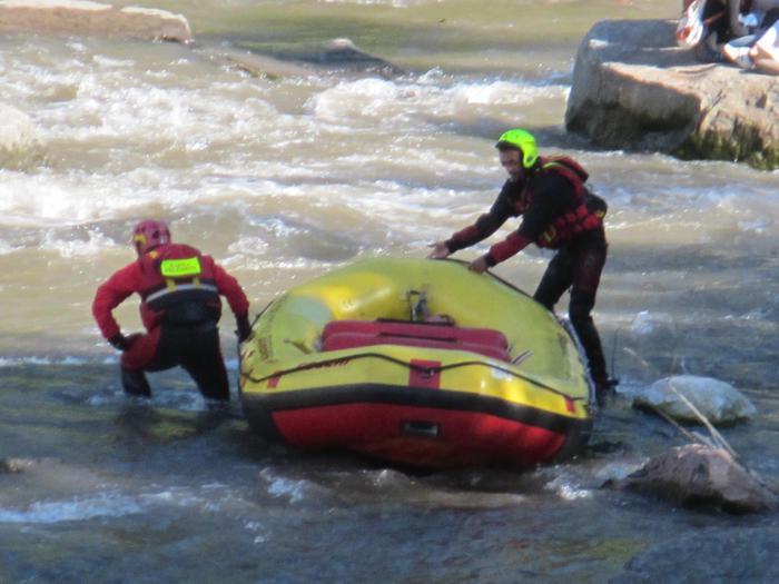 Intervento del soccorso fluviale nel Talvera a Bolzano