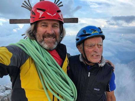 Christoph Hainz e Reiner Kauschke sulla Grande Cima di Lavaredo