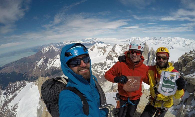 Photo of Tre giovani della Valfurva in vetta al Fitz Roy