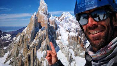 Photo of Hervé Barmasse ripiega sul Cerro Domo Blanco