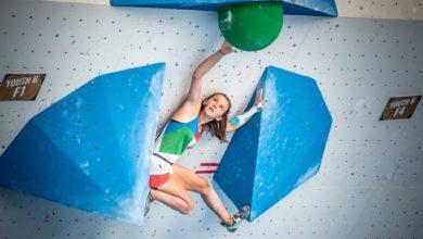 Photo of Oriane Bertone Campionessa mondiale giovanile Boulder