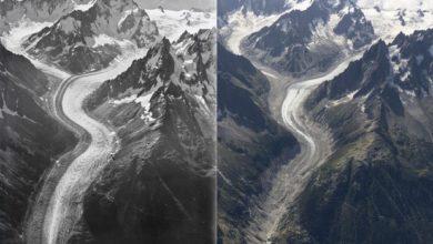 Photo of Monte Bianco, nelle foto 100 anni di ghiacciai