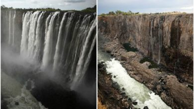 Photo of Foto choc: le Victoria Falls prosciugate per la siccità
