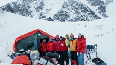 Photo of Gasherbrum, Moro e Lunger arrivati al campo base