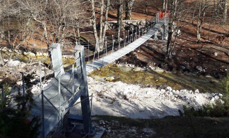 Photo of Pnalm, dopo l'alluvione ecco il nuovo ponte in Val Fondillo